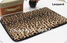 Free Shipping Ultra-soft Memory Foam bath mat 40X60cm fashion Leopard door mat carpet US $9.99