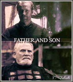 Jeor & Jorah Mormont, Father & Son...So I TOTALLY didn't pick up on this in the show, but when I read the book I was all...wait...how did I miss that?!