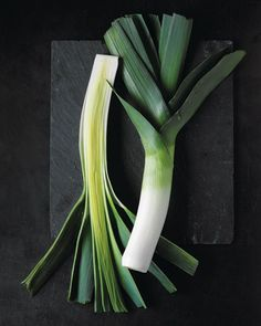 """Perfect Grilled Vegetables, LEEKS: """"Trim leeks. Halve lengthwise; rinse well. Add to a pan of boiling salted water. Reduce heat. Simmer until slightly softened, 8 to 10 minutes; drain and pat dry. Brush generously with olive oil. Grill, cut sides down, over medium-high heat, with grill covered, until marked and softened, about 6 minutes. Flip; grill until soft, about 3 minutes. Season with salt and pepper."""""""