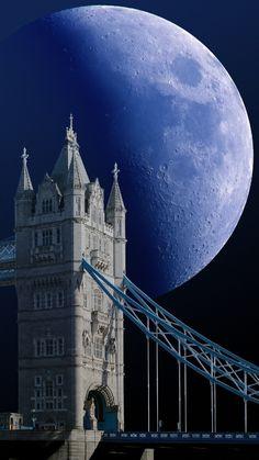 Castle bridges and moon light