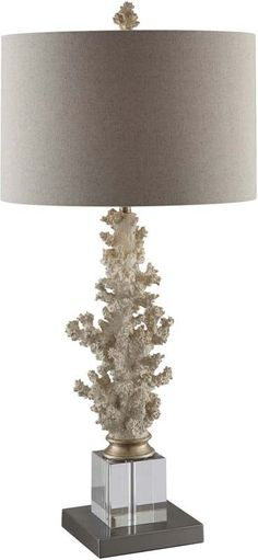 "Crestview Collection CVAUP861 Coral Gabels Table Lamp 31.5""Ht 15 X 15 X 10"