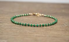 Emerald Bracelet Emerald Jewelry May Birthstone Stacking
