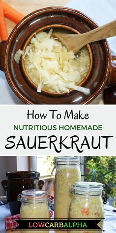 Low Carb Recipes To The Prism Weight Reduction Program Make Your Own Sauerkraut. The most effective method to Make Homemade Sauerkraut Easy Fermented Food. Solid Low Carb Or Keto Friendly Recipe. Figure out How To Prepare Sauerkraut Step By Step Keto Friendly Desserts, Low Carb Desserts, Low Carb Recipes, Vegetarian Recipes, Healthy Recipes, Healthy Foods, Atkins Recipes, Healthy Lunches, Keto Foods