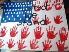 Handprint-Flag veterans day