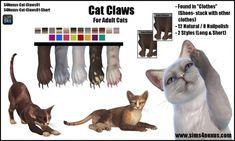 Cat Claws By Samanthagump At Sims 4 Nexus Sims 4 Updates Sims 4 Pets Sims Sims 4