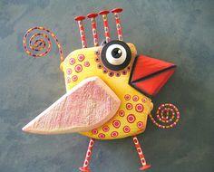Chicken Little pájaro pared arte escultura Original de la