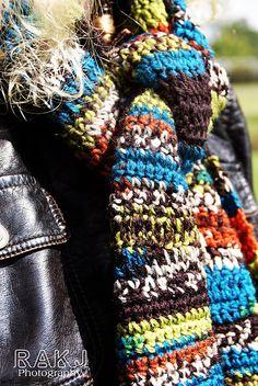Kristi Greeson | Uneek Bohemian Crochet Scarf with Fringe