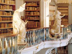 books n buildings - The library belonging to the abbey St Peter in the...