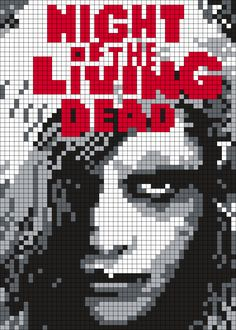 Night Of The Living Dead Poster Perler Bead Pattern