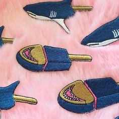 Valentine's Day SALE-KOKO VAPORWAVE SHARK PATCH SET