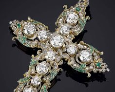 Valued at US$1.25 million, Pope Paul VIs diamond cross is embellished with diamonds (60ct), emeralds and rubies.