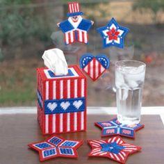 Star-Spangled Celebration Plastic Canvas Patterns ePattern