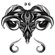 signes zodiac astrologie signe belier 550x550 12 illustrations originales des signes du Zodiac