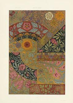 The Plant in Art & Trade, Antique prints of ornamental decoration by Anton Seder, Art Nouveau prints, Motifs Art Nouveau, Art Nouveau Pattern, Art Nouveau Design, Art Nouveau Flowers, Art Antique, Antique Prints, Vintage Art, Art Deco, Art Nouveau Illustration