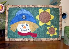 PDF Pattern for Scarecrow Mug Rug Halloween Mug Rug Pattern