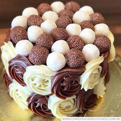 Aprenda a Fazer Brigadeiro Gourmet - Como Fazer Doces Finos Cake Truffles, Cupcakes, Cake Recipes, Dessert Recipes, Cake Decorating Frosting, Birthday Cake Pictures, Beautiful Desserts, Cake Decorating Techniques, Food Platters