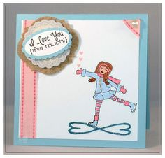 Card featuring Skater Diva by Carolina Buchting