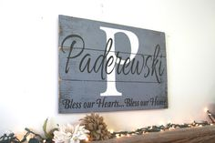 Name Sign Family Name Sign Pallet Sign by RusticlyInspired on Etsy