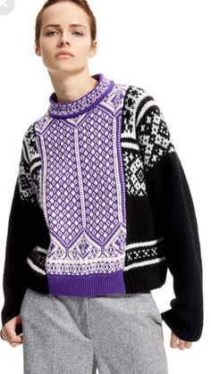 Designer and Elegant Women's Knitwear: Cardigans and Sweaters Knitwear Fashion, Knit Fashion, High Fashion, Fair Isle Knitting, Knitting Designs, Knit Patterns, Knit Crochet, Clothes, Knits