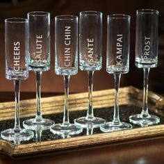 Celebration Champagne Flute Set - so cute for New Years Eve