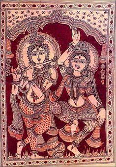 33 New Ideas Nature Tattoo Drawing Posts Kalamkari Painting, Krishna Painting, Madhubani Painting, Krishna Art, Indian Traditional Paintings, Indian Art Paintings, Worli Painting, Painting Styles, Perspective Art