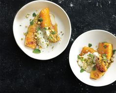 Roasted pineapple with honey and pistachios, Bon Appetit, March 2012, Rozanne Gold
