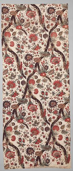 Print, Floral, French, 1799, cotton