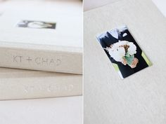 A wedding photographer chooses Japanese cloth covers for her lovely wedding albums. (Yes, albums.)
