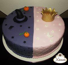 Cake Meio a meio Bruxa Princesa
