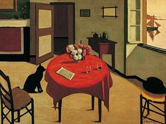 Marius Borgeaud - Interior with Two Glasses 1923