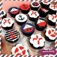 Nautical Themed Cakes Images Nautical Theme Cupcakes Nautical Anchor Sailboat Cake Designs For Birthdays Nautical Theme Cupcakes, Nautical Food, Nautical Mickey, Nautical Party, Themed Cupcakes, Nautical Anchor, Anchor Cupcakes, Paper Cupcake, Cupcake Cakes