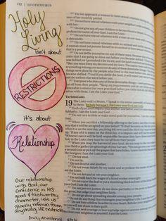 Leviticus love this! ♡ on pinny, on insta ♡ Bible Notes, My Bible, Bible Art, Bible Scriptures, Bible Study Journal, Art Journaling, Study Inspiration Quotes, Scripture Doodle, Bible Doodling