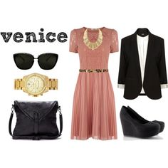 """""""Summer Wanderer: Venice"""" by sartoriography on Polyvore  color black theme biz lunch concert church cocktails formal"""
