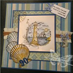 and what I did next - by Judith Hall: Spots and stripes at Crafty Little Fairies Nautical Cards, Masculine Cards, Card Designs, Fairies, Shells, Stripes, Stamp, Crafty, Water