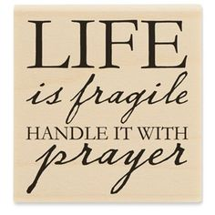 Life Is Fragile Rubber Stamp | Shop Hobby Lobby