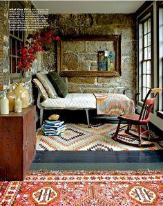 Reading room bohemian style.