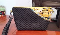 Minions Clutch with Wrist Strap by MyCreativeBranch on Etsy