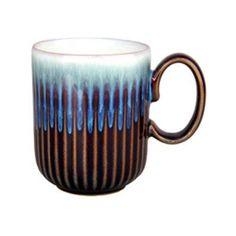 Denby Fluted Mug - Set of 4 Amethyst - DENB198-1, Durable