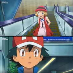 I'm sad to say that I don't think Serena will come back, because then Ash will probably notice her, and that's just not the kind of thing pokemon does. I think she was just a little gift to shippers. 3ds Pokemon, Pokemon X And Y, Pokemon Ash And Serena, Pokemon Movies, Pokemon Moon, Pokemon Red, Cool Pokemon, Pokemon Cards, Pokemon Ash Ketchum