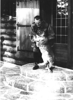 Hermann Göring with a pet lion at his home, Carinhall, in Berchtesgaden, Germany