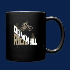 Shirt-Schmiede.Eu | Downhill Race - Geschenk Radfahrer Biker Fahrrad - Tasse einfarbig