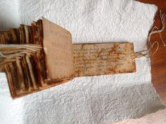 SIN NOMBRE (Artist's Book)   Eloisa Alquati   Glossom #tea_bag_art Book Arts Workshops http://www.cullowheemountainarts.org/#sthash.LKjwG7U4.dpbs
