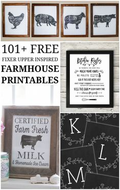 101+ Fixer Upper Inspired Farmhouse Printables