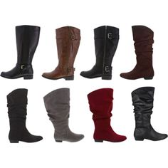 Payless wide width extended calf boots