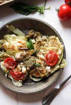 The best roasted cabbage steaks are the ones smothered in feta and pesto! These steaks are vegetarian, low carb, and keto friendly. Diet Plan Menu, Keto Meal Plan, Meal Prep, Low Carb Meal, Cabbage Steaks, Roasted Cabbage, Cabbage Soup, Grilled Cabbage, Cabbage Salad