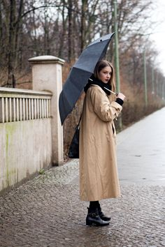 Rainy days can be elegant as well as practical. #Berlin #Streetstyle on http://thelocals.dk