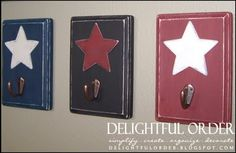Delightful Order: Make Your Own Star Wall Hooks...I love this blog..such great ideas