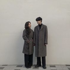 Image may contain: 2 people, people standing Eros And Psyche, Korean Couple, Ulzzang Couple, Winter Jackets, Normcore, Sayings, Couples, Boys, People People