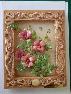 #Papertole #SÜMBÜL ELDEK Diy Arts And Crafts, Crafts To Do, Clay Crafts, Paper Crafts, Decoupage, Clay Box, Clay Wall Art, Quilling Paper Craft, Embroidery Flowers Pattern