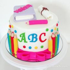 All Time Easy Cake : Image score for cake decorated graduation ABC, Fondant Cakes, Cupcake Cakes, Teacher Cakes, School Cake, Graduation Cupcakes, Preschool Graduation, Occasion Cakes, Cakes For Boys, Girl Cakes